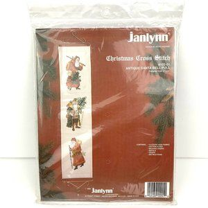 VTG Janlynn Christmas Cross Stitch Kit - Santa